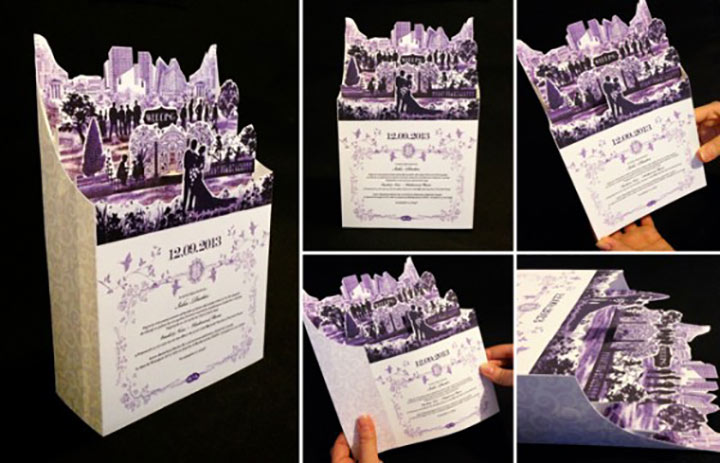 Wedding Invitation Cards - The Paper Fold Invitation