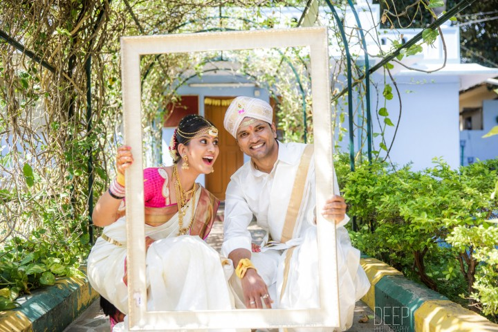 A cute south indian couple prewedding shoot