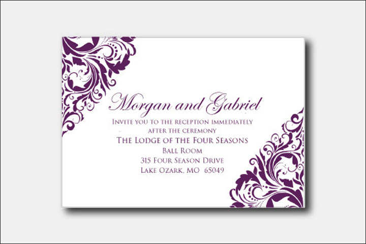 10 classy christian wedding cards for the stylish couple Wedding Card In Christian christian wedding cards bold damask wedding card christian