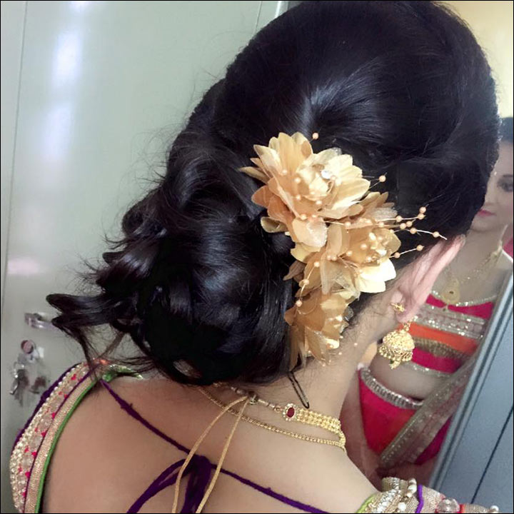 Simple Juda Hairstyle For Wedding: Perfect South Indian Bridal Hairstyles For Receptions