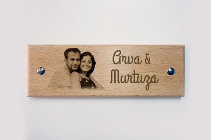 Wedding Gifts For Bride - Door Name Plaque