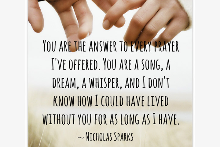 Engagement Quotes for Her - The Answer To Every Prayer