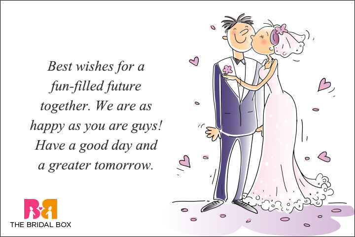 Casual Wedding Day Wishes - Everyone's Happy
