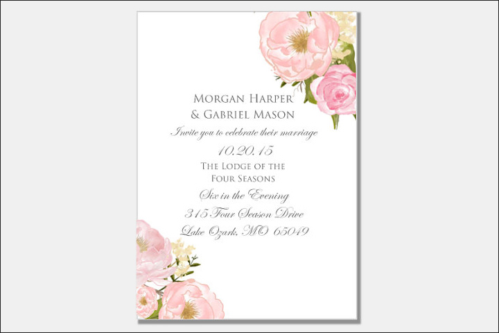 Charming Floral Christian Wedding Cards For A Spring Wedding