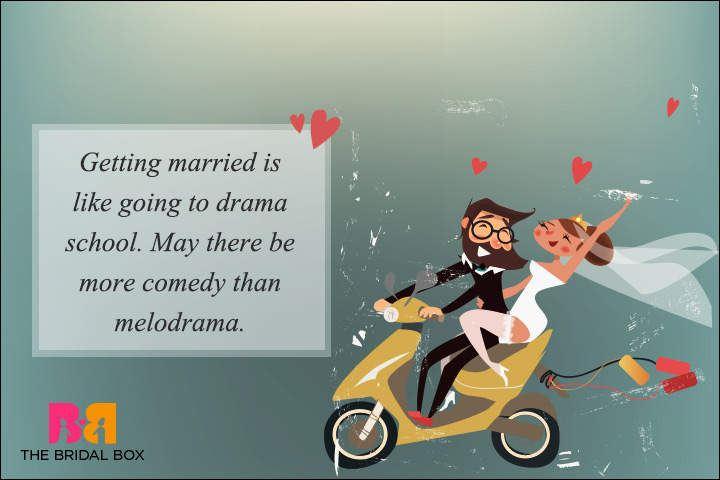 Funny Wedding Wishes - May There Be More Comedy