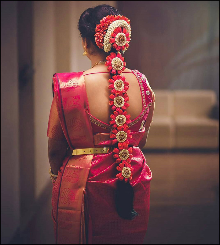 Wondrous South Indian Bridal Hairstyles For Medium Hair Best Hairstyles 2017 Short Hairstyles For Black Women Fulllsitofus