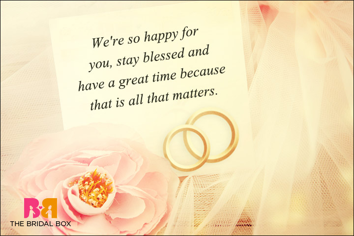 Casual Wedding Day Wishes - Stay Blessed
