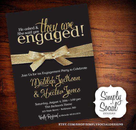 10 engagement invitation cards ideas for awesome couples for Online engagement party invitations