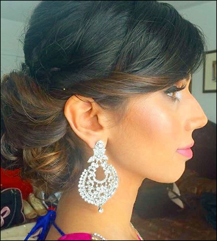 Indian Bridal Hairstyles - The Layered Bun