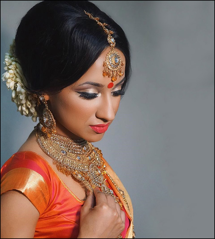 Indian Bridal Hairstyles - The Retro South Indian Beauty Re-Imagined