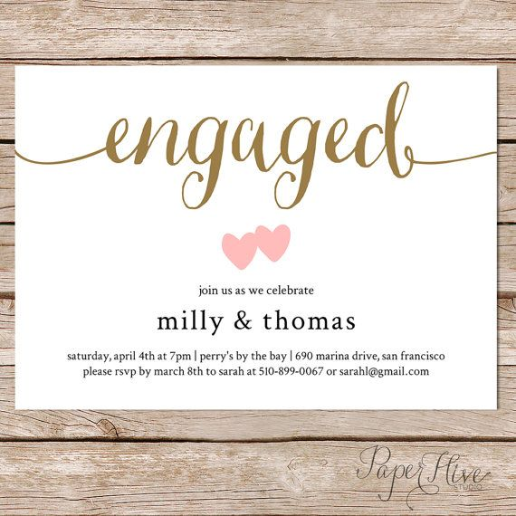 10 engagement invitation cards ideas for awesome couples via source via source a simple and modern engagement invitation card stopboris Choice Image