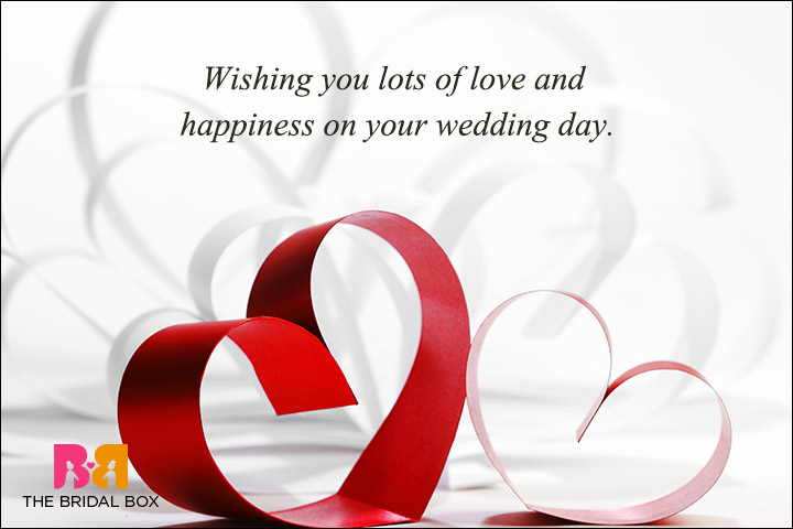 Casual Wedding Day Wishes - The Usual Wedding Wishes