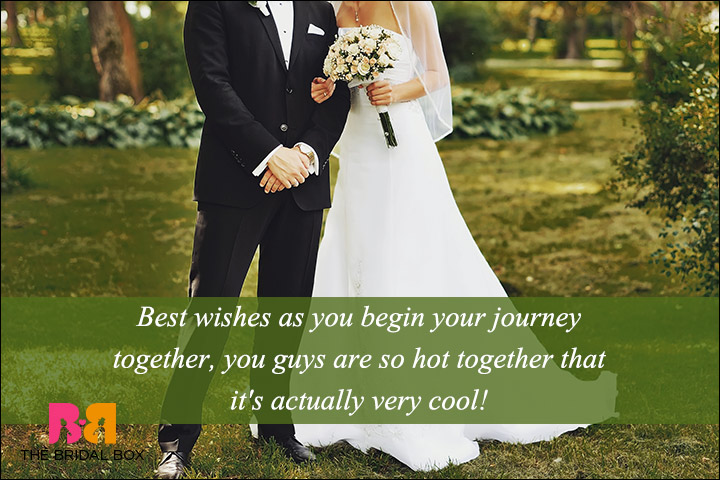Casual Wedding Day Wishes - Too Hot And Super Cool!