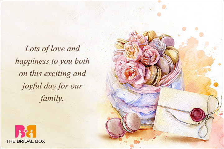 Best Wedding Wishes - From Parents To Their Children - This Is A Joyous Day