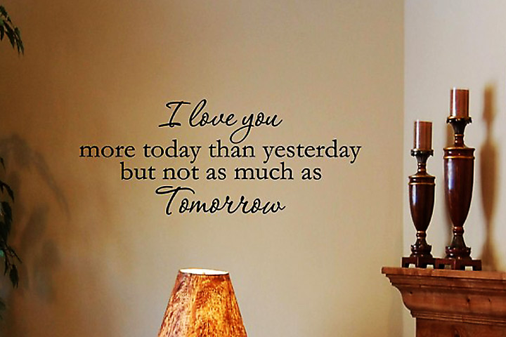 Engagement Quotes for Her - More Today Than Yesterday, But Not As Much As Tomorrow