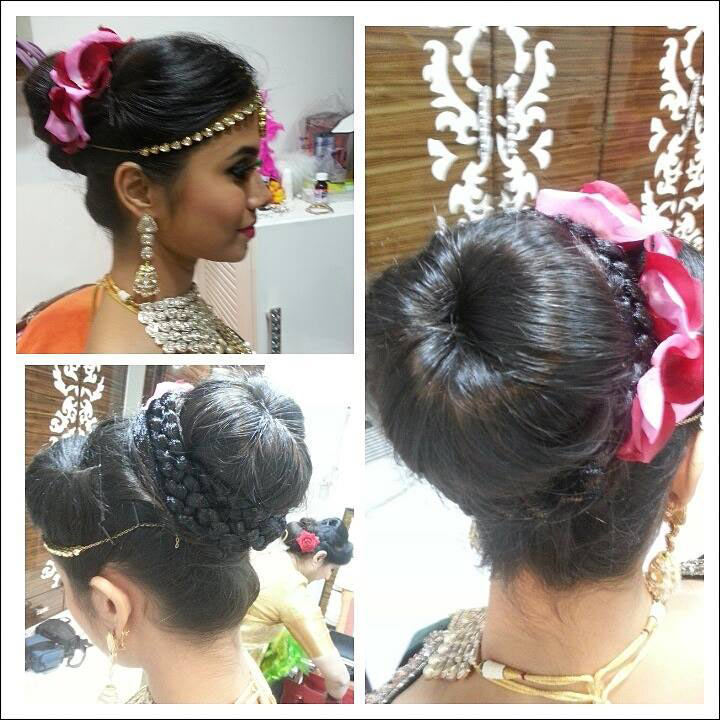 South Indian Bridal Hairstyles For Reception - Bun