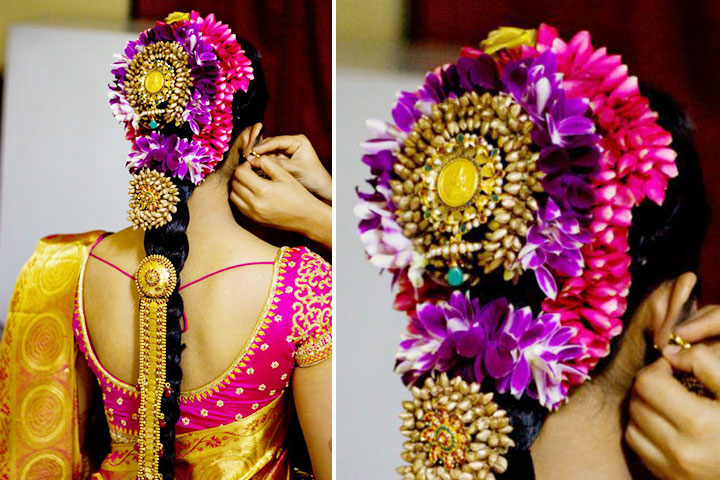 Amazing Perfect South Indian Bridal Hairstyles For Receptions Short Hairstyles Gunalazisus