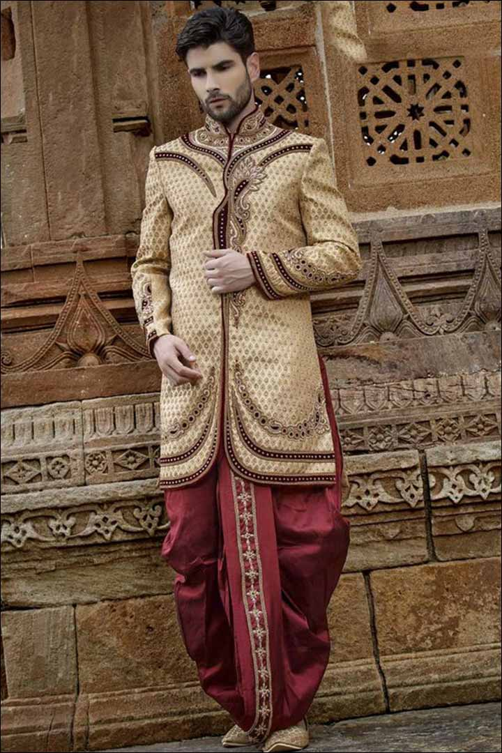 Sherwani For Groom - Angarakha Style