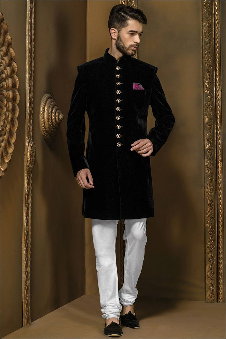 Sherwani For Groom - Bandhgala Style