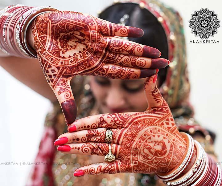 Rajasthani Mehndi Designs - Bride-Groom Design