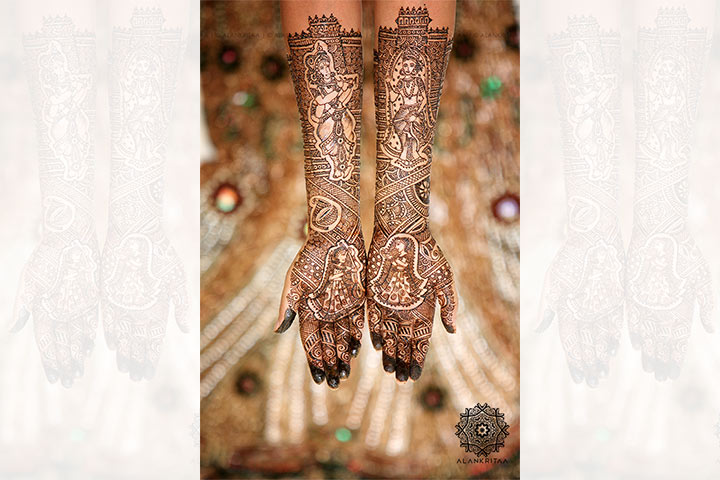 Customide fullhand bridal mehndi