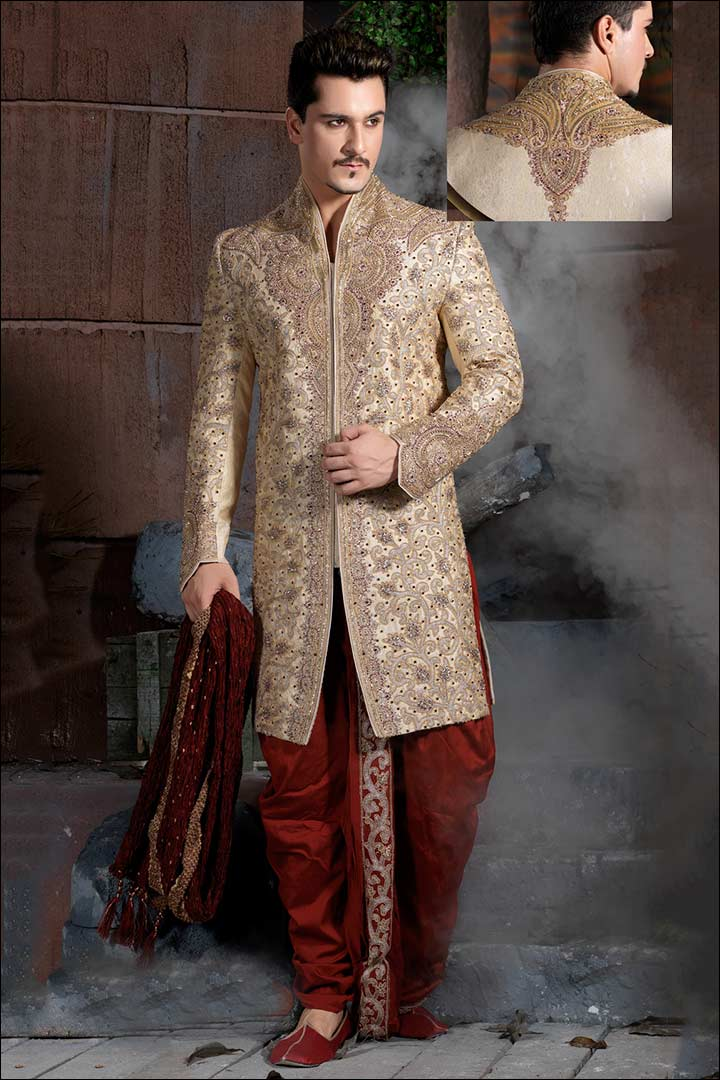 Sherwani For Groom - The Extravagantly Embroidered Sherwani