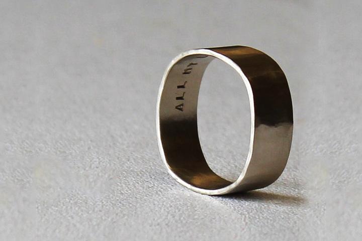 Engagement Rings For Men - Golden Square Ring