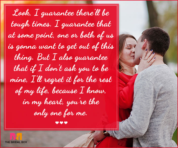Marriage Proposal Quotes - The Only One For Me