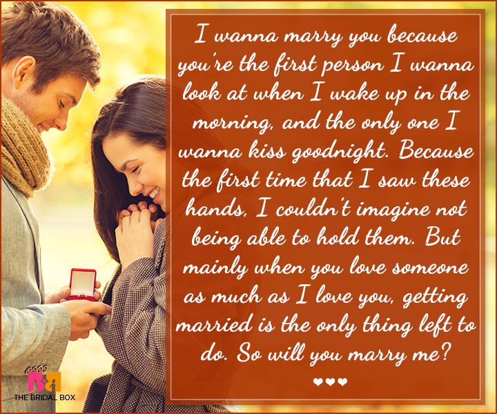 Marriage Proposal Quotes - So Will You?