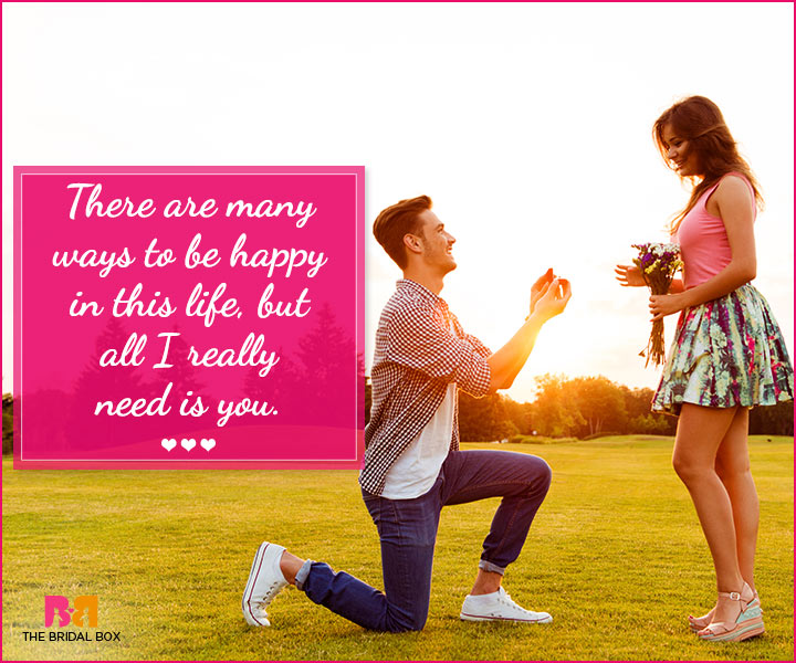 Marriage Proposal Quotes - All I Really Need