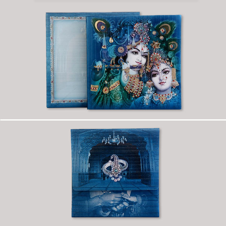Hindu Wedding Cards-Radha krishna wedding card