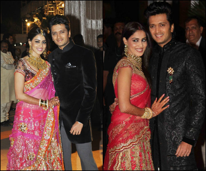 Ritesh and Genelia at Sangeet Ceremony