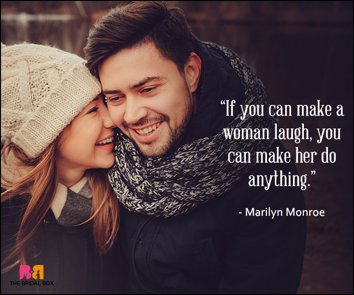 Romantic Love Quotes For Him - Marilyn Monroe