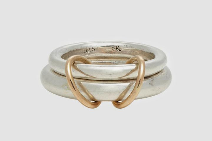 Engagement Rings For Men - Rose Gold & Silver Ring
