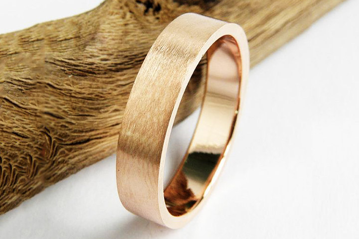 Engagement Rings For Men - Rustic Gold Ring