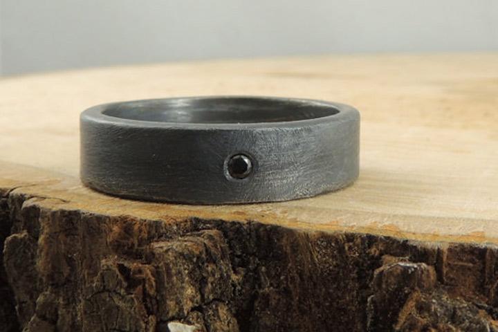 Engagement Rings For Men - Sterling & Diamond Ring