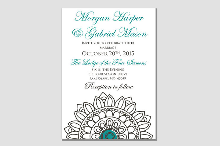Wedding Card Designs - The Teal