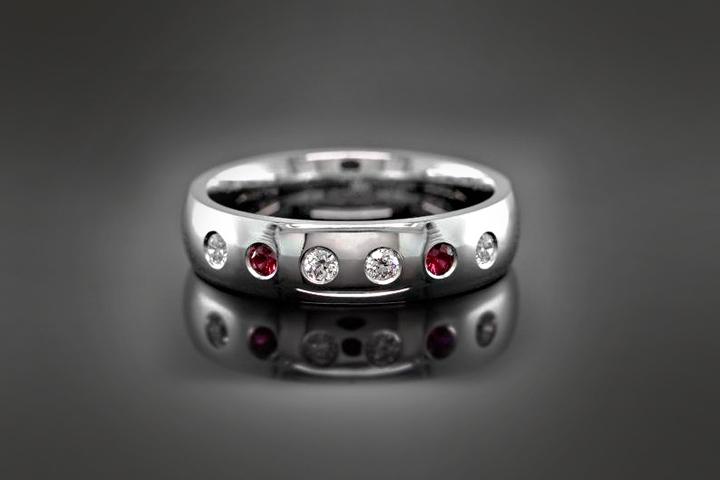 Engagement Rings For Men - The Diamond Ruby Ring