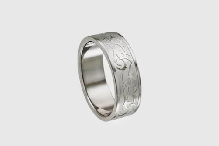 Engagement Rings For Men - The Tribal Laser Ring