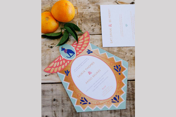 Wedding Invitation Cards Samples -The Whimsical Cat