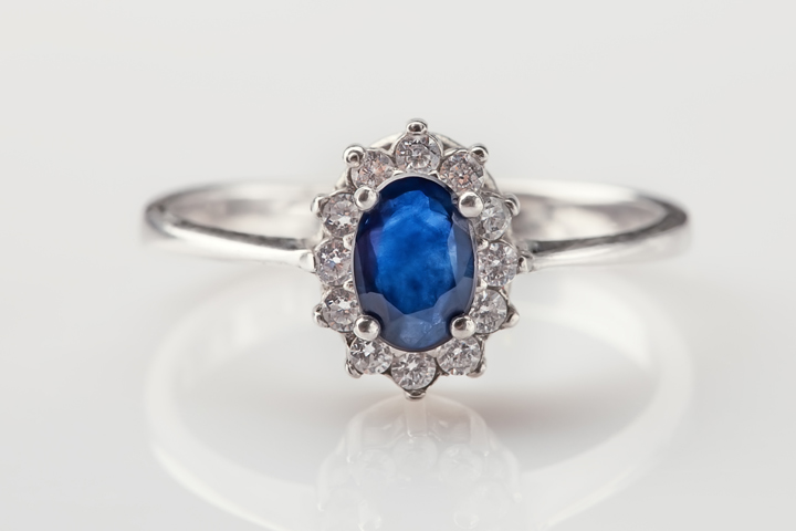 Diamond Engagement Rings - blue diamond ring