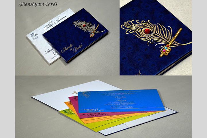 Wedding Card Designs - The Peacock Motif