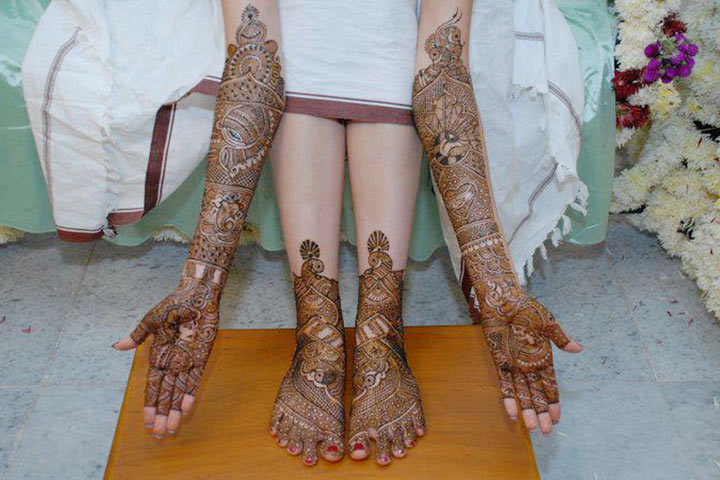 briadal mehndi full hand and leg