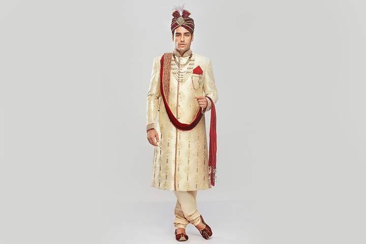 Sherwani For Groom - The Gold Regal Sherwani