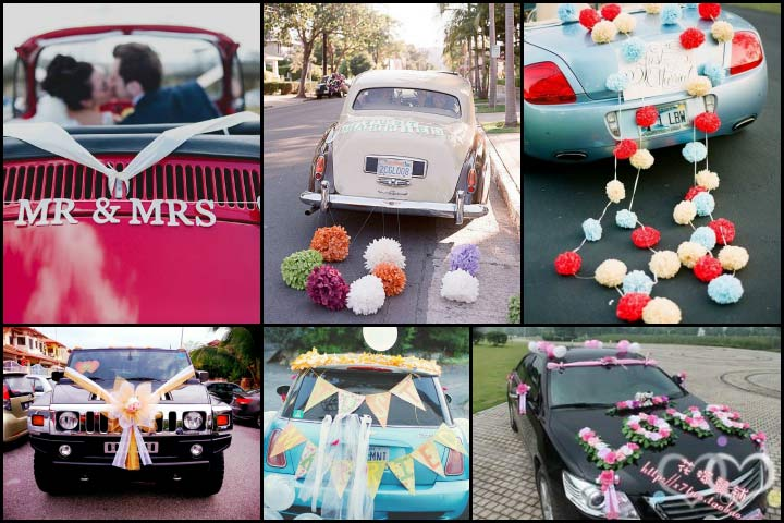 The Fluffy Paper Flowers Car Decoration Ideas