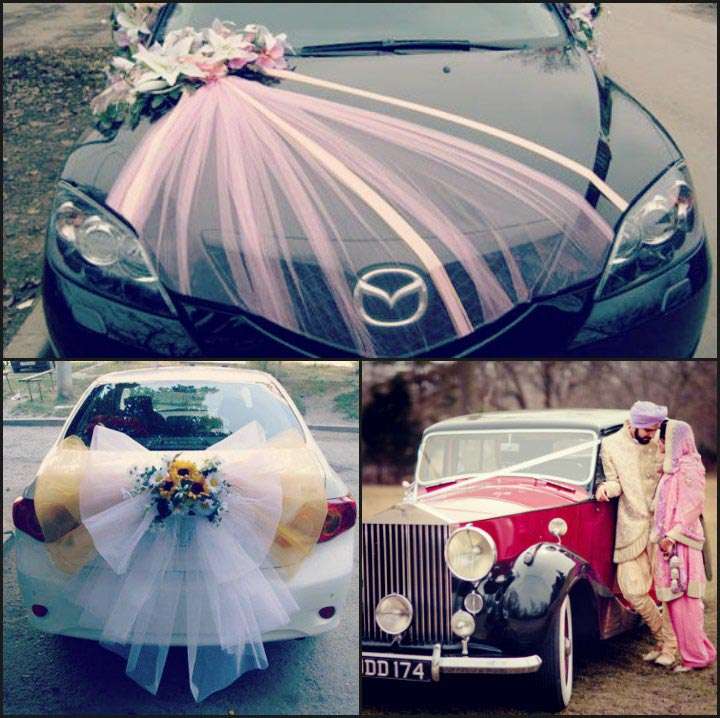 Wedding car decoration 25 fancy ideas to getaway in style wedding car decorations junglespirit Choice Image