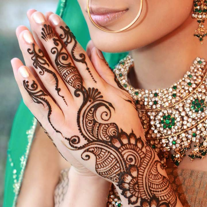 Paisely Vines Arabic Mehndi Design For Back Hands