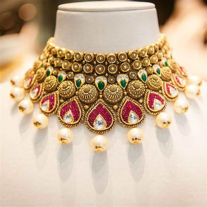 Bridal Jewellery On Rent-Choker