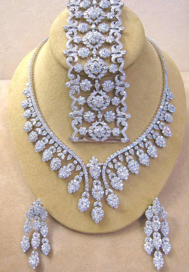 Bridal Jewellery On Rent-Diamond