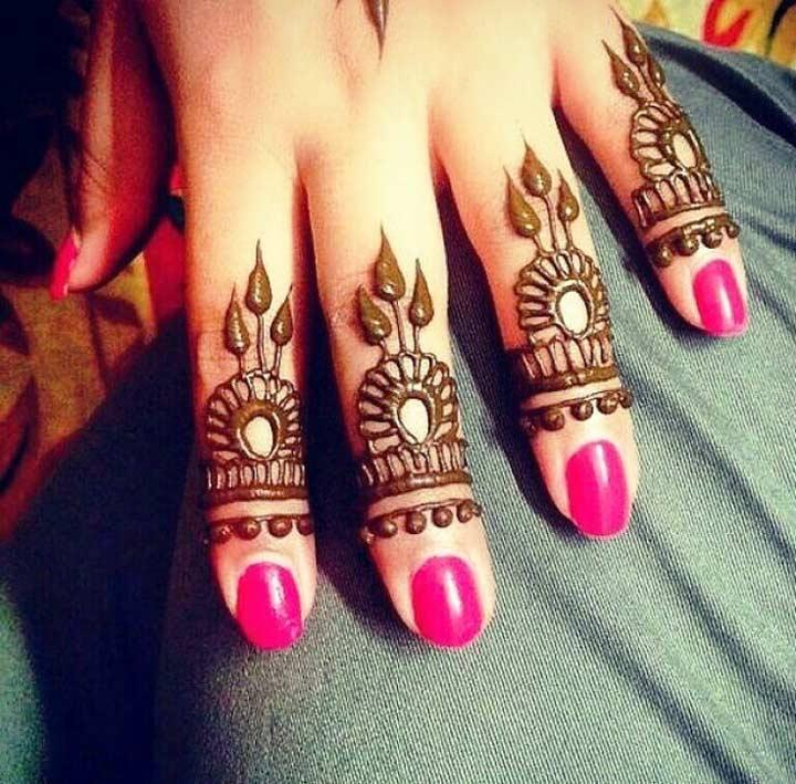 Mehndi Front Finger Design : Arabic mehndi design for fingers top picks of